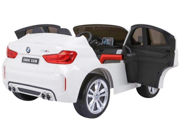Masinuta electrica pentru copii BMW X6M (2168) XXL cu 2 locuri, Alb