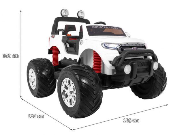Masinuta Electrica Pentru Copii Ford Ranger Monster 550 Alb