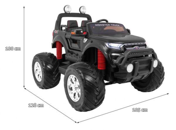 Masinuta Electrica Pentru Copii Ford Ranger Monster 550 Negru