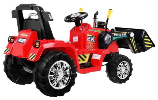 Tractor electric pentru copii cu Telecomanda 2.4GHz (1005) Rosu