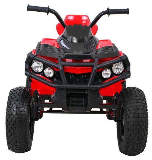 ATV electric pentru copii (0906 AIR) cu roti gonflabile Rosu