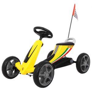 Kart cu pedale pentru copii FERRARI (8931) Galben