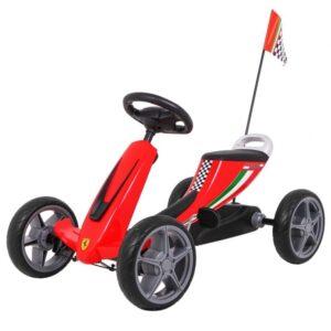 Kart cu pedale pentru copii FERRARI (8931) Rosu