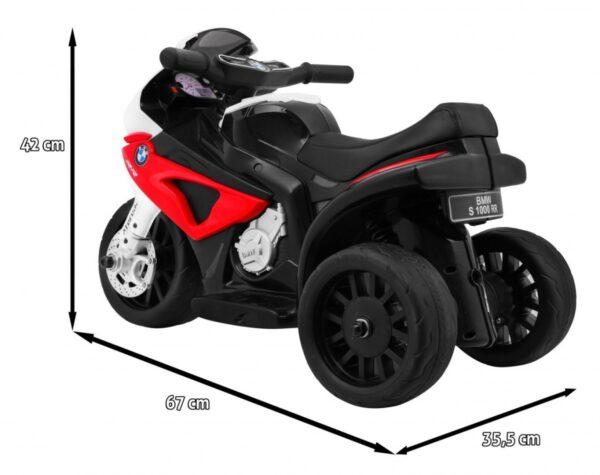 Tricicleta electrica pentru copii mica, BMW S1000 RR (5188) Rosu
