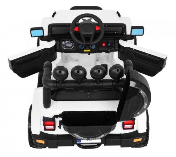 Masinuta electrica pentru copii FULL TIME 4WD (7588) 4×4, Alb