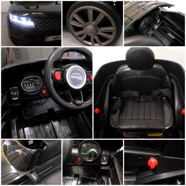 Masinuta electrica pentru copii Cabrio F4 (BLT688) Negru