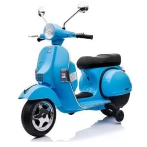 Motocicleta electrica pentru copii Scuter Vespa PX150, Albastru