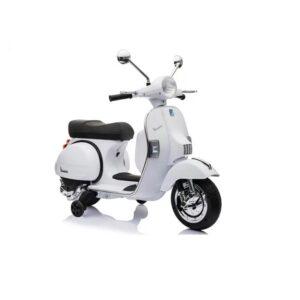 Motocicleta electrica pentru copii Scuter Vespa PX150, Alb