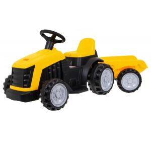 tractor-electric-pentru-copii-cu-remorca-1908-galben