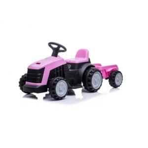 tractor-electric-pentru-copii-cu-remorca-1908-roz