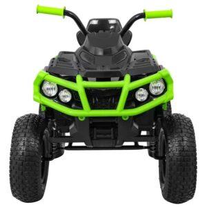 atv-electric-pentru-copii-0906-air-cu-roti-gonflabile-negru-verde