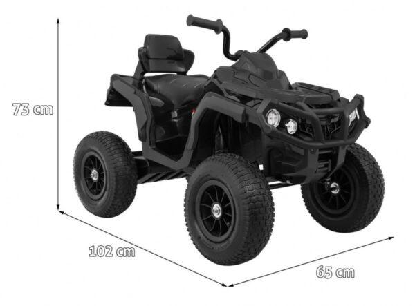 ATV electric pentru copii (0906 AIR) cu roti gonflabile Negru