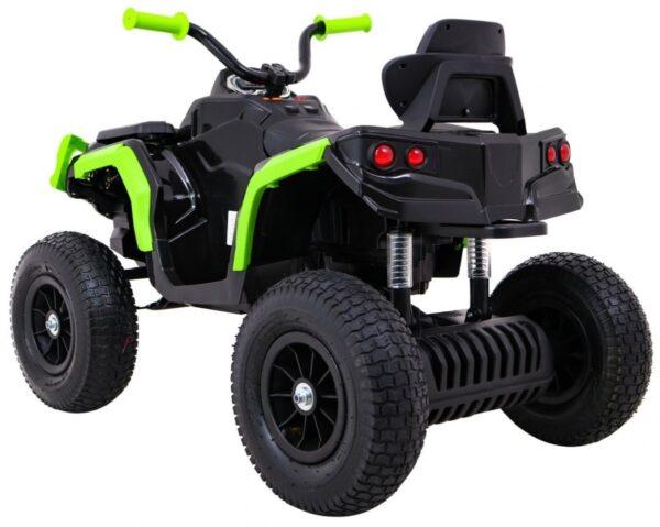 ATV electric pentru copii (0906 AIR) cu roti gonflabile Negru/Verde