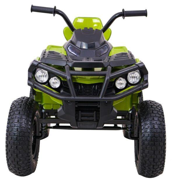 ATV electric pentru copii (0906 AIR) cu roti gonflabile Verde