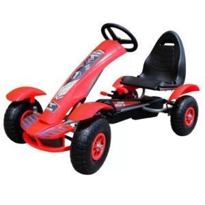 kart-cu-pedale-pentru-copii-f618-roti-gonflabile-rosu