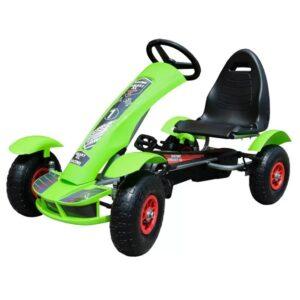 kart-cu-pedale-pentru-copii-f618-roti-gonflabile-verde