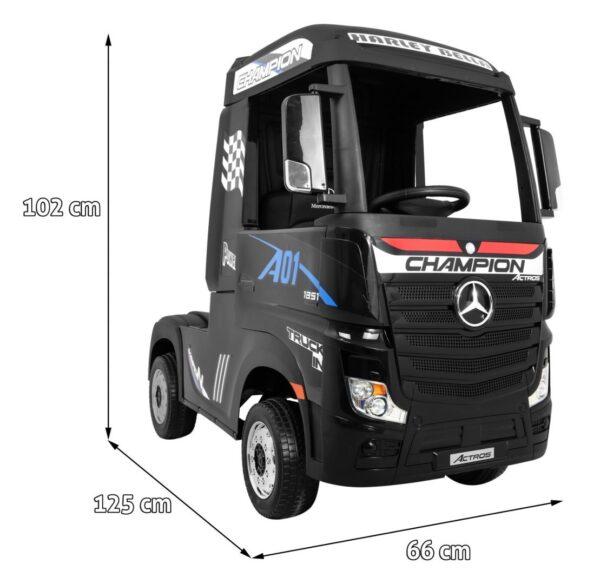 Masinuta electrica penru copii Camion Mercedes Benz ACTROS (358) 4×4 Negru