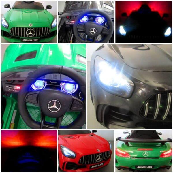 Masinuta electrica pentru copii Mercedes GTR Alb