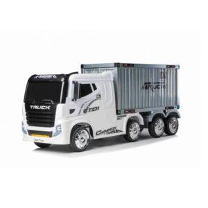 """Masinuta electrica pentru copii Camion cu remorca """"Container Truck"""" (2011) Alb"""