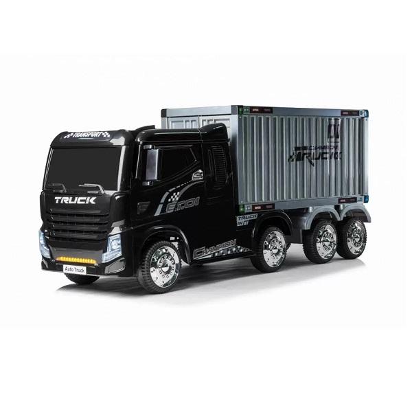 """Masinuta electrica pentru copii Camion cu remorca """"Container Truck"""" (2011) Negru"""