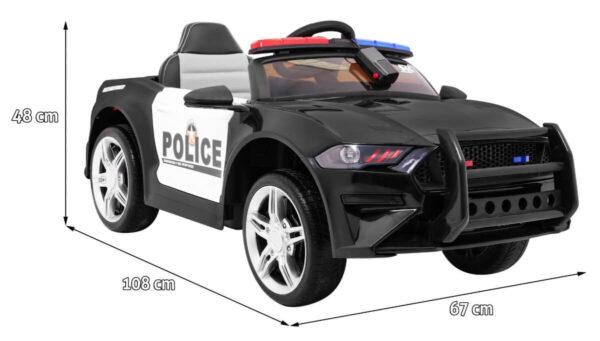 Masinuta electrica pentru copii GT Sport Politia (0007) Negru