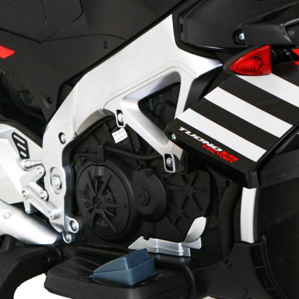 Motocicleta electrica pentru copii 12 Volti Aprilia Tuono V4 (A010) Negru