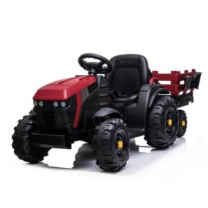 tractor-electric-pentru-copii-cu-remorca-titanium-roti-eva-0925-rosu